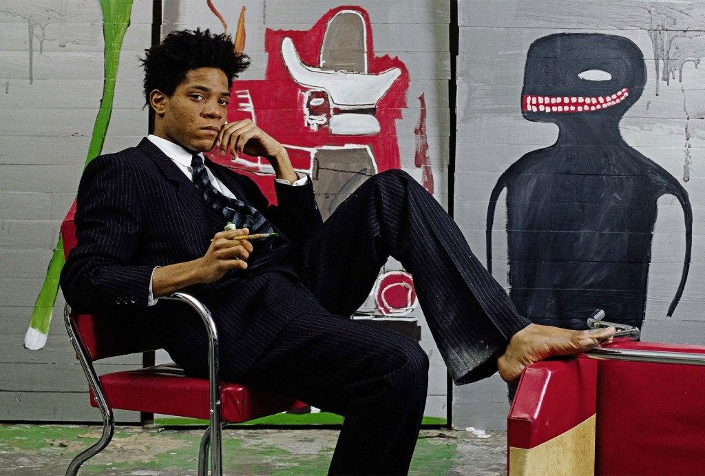 Jean-Michel Basquiat. Foto: Lizzie Himmel - Brooklyn Museum - 1985