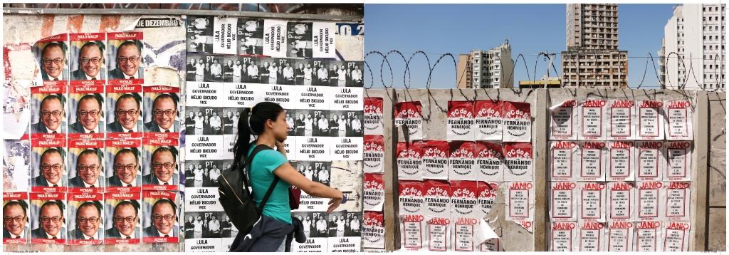 metro de SP cartazes lambe lambe politica maluf PT