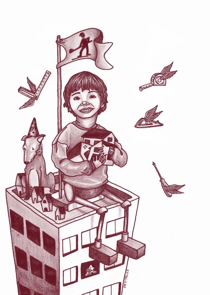 Ilustração de Petit Alice (especialmente criada para o conto A Máquina Humana [ Ensaio Inédito sobre a loucura] )