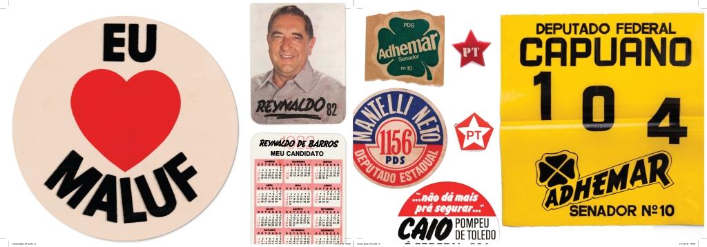 panfletos propaganda politica maluf ademar capuano calendário