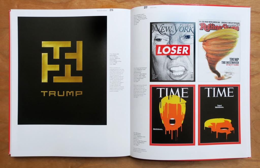 """Dupla do livro """"The Design Of Dissent"""" (versão atualizada, de 2017) de Milton Glaser e Mirko Ilic, exemplificando um pouco dos novos trabalhos incluídos nesta versão."""