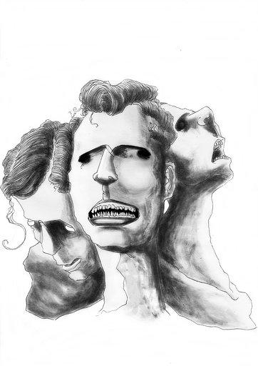 Ansiedade Ilustração de Junior Santos