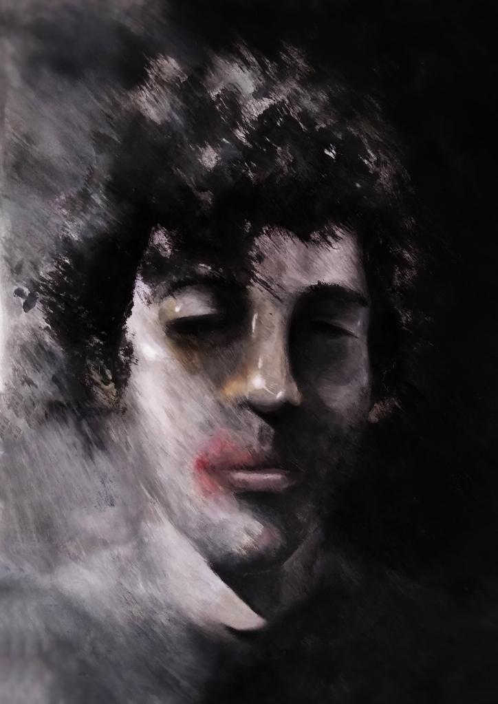 Ilustração de Junior Santos (especialmente criada para o texto O homem oco)