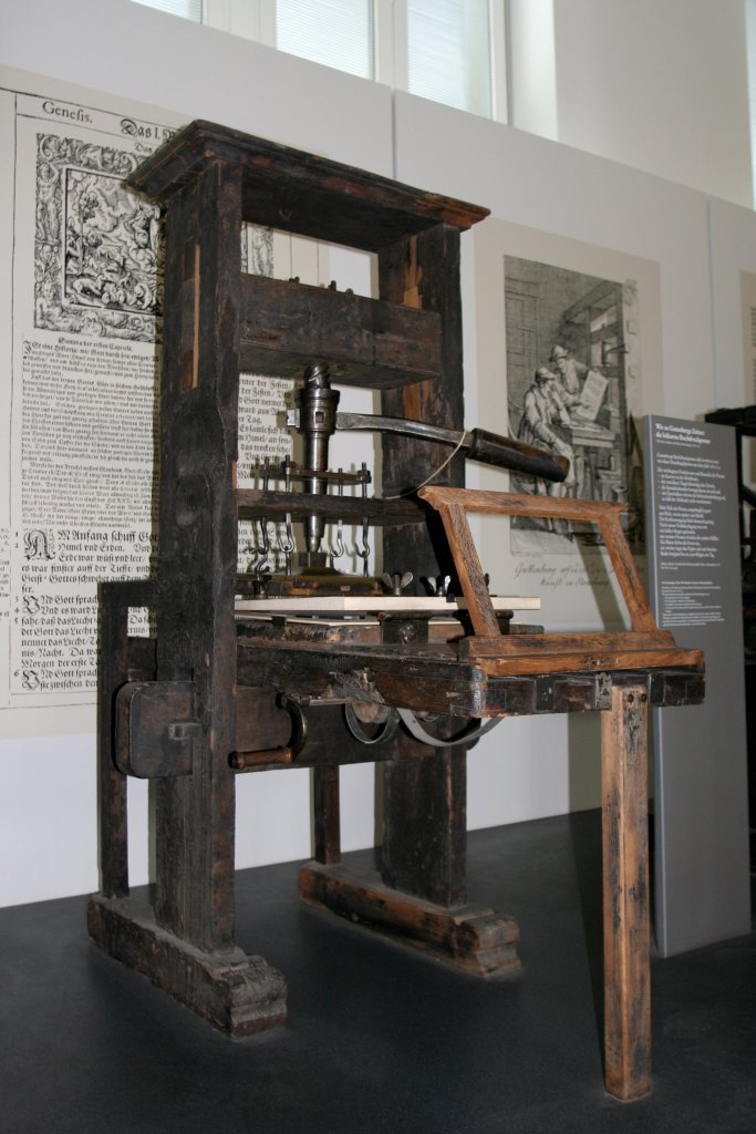 Prensa tipográfica de Gutemberg
