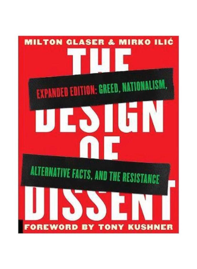 """Capa da versão de 2017 do livro """"The Design Of Dissent"""" de Milton Glaser e Mirko Ilic."""
