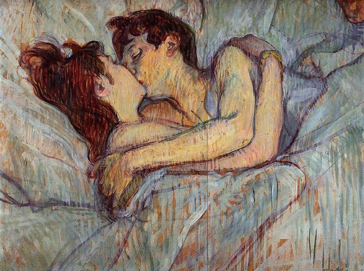 En la cama, el beso - 1892 - Henri de Toulouse-Lautrec