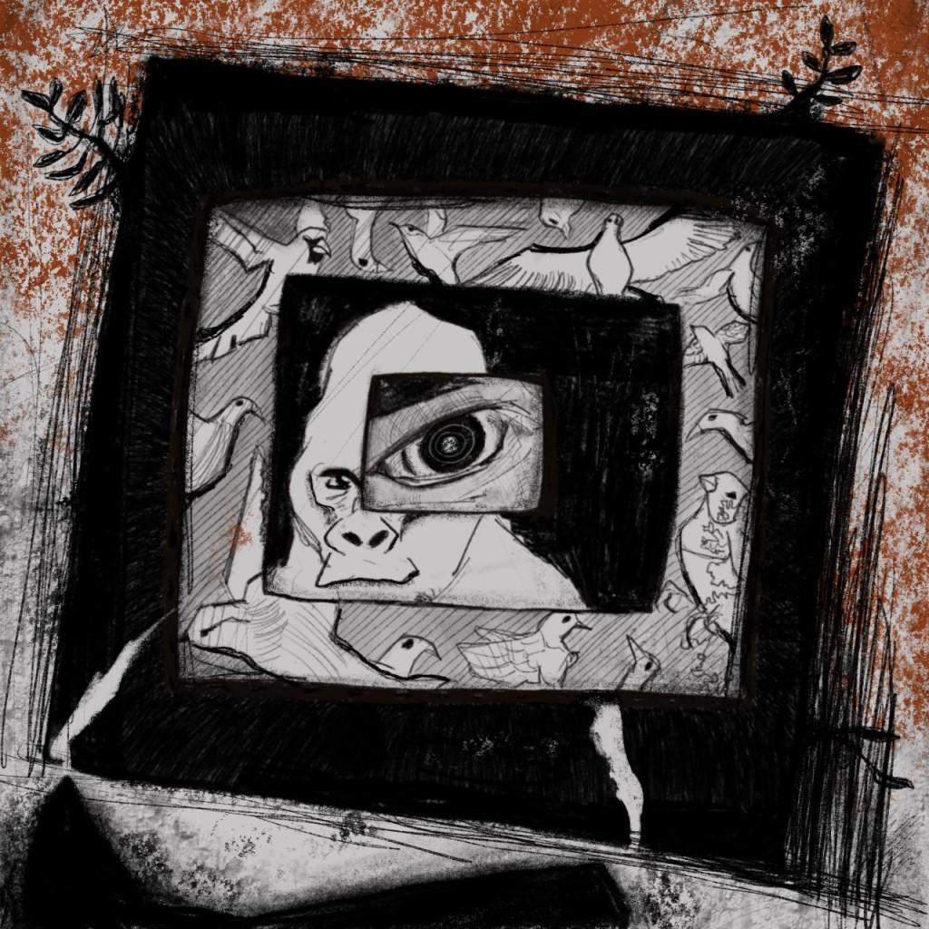 Ilustração de Leonardo Fernandes (especialmente criada para o texto Os Olhos de Átila)