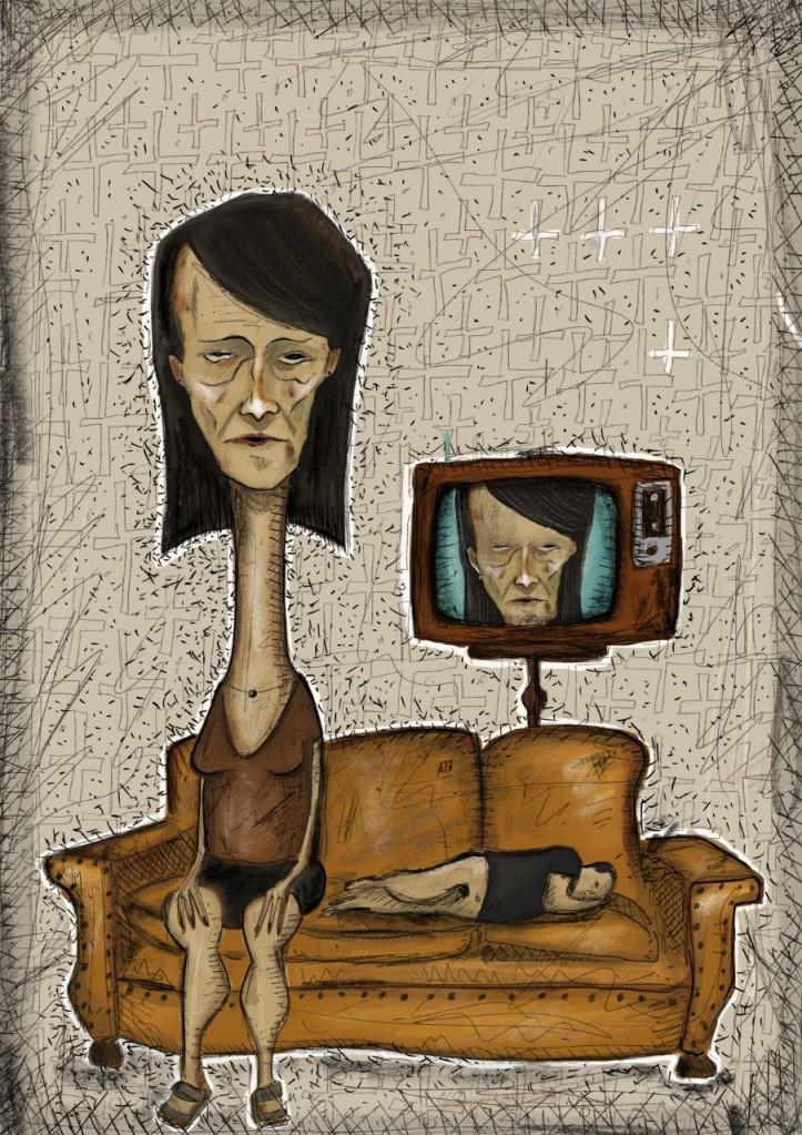 Ilustração de Leonardo Fernandes (especialmente criada para o texto ADÃO E EVA E O TAMANHO DAS COISAS).