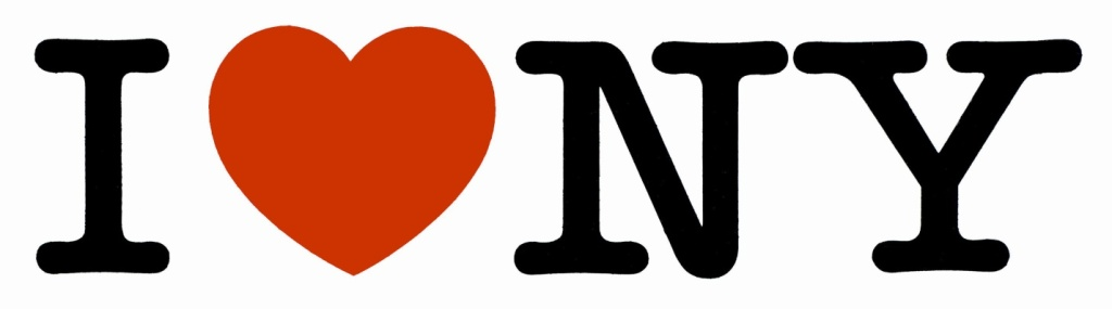 """Logotipo """"I ♥NY"""". Projetado por Milton Glaser em 1977."""