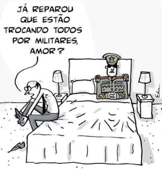de Edu Oliveira O militar na cama tirinha quadrinhos