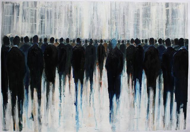 Passo a passo, Lesley Oldaker, óleo sobre papel, 2018