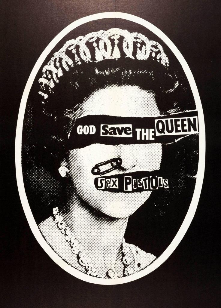Figura 3: Jamie Ried, God Save the Queen, dos Sex Pistols, capa do single de 7 polegadas. Virgin Records, Reino Unido, 1977.