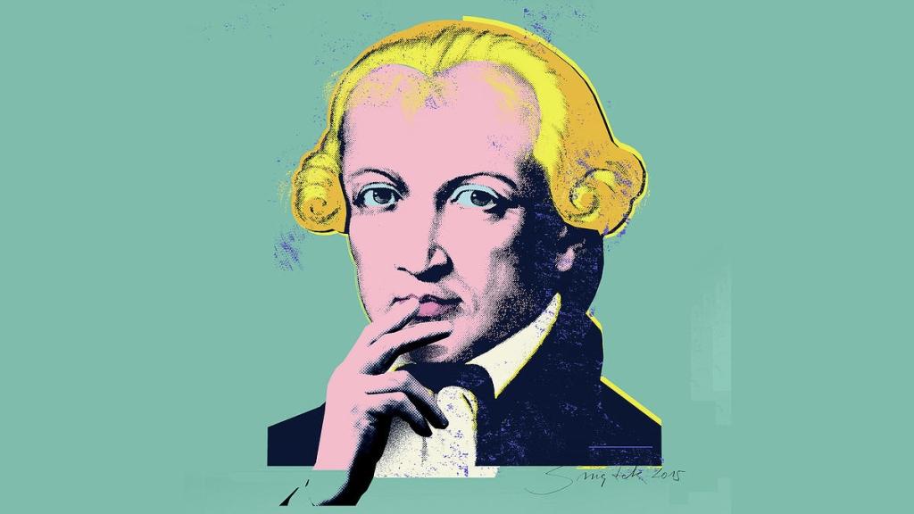 Immanuel Kant - Retrato PopArt