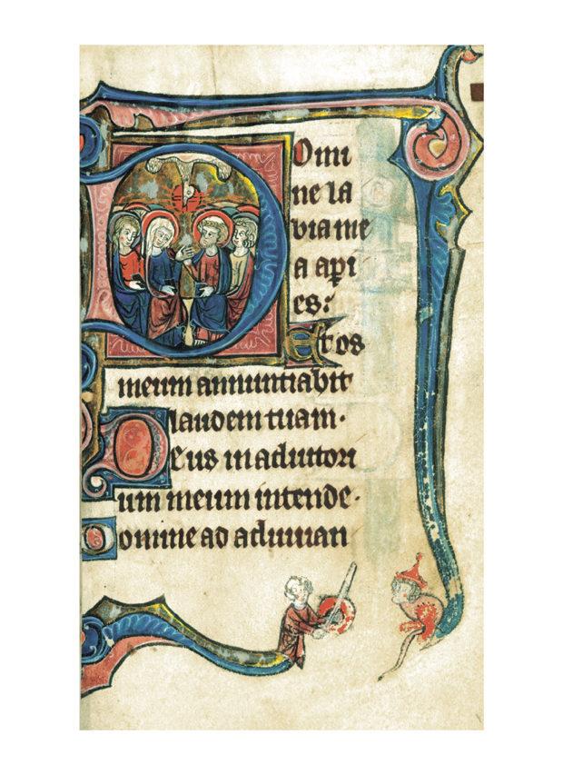 Fig.9 - Capitulares retiradas do Livro de Horas. Flanders 1300-1310