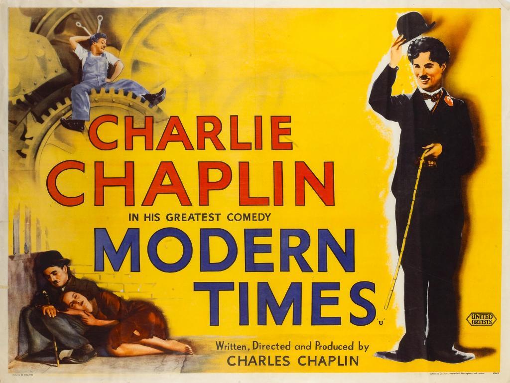 Considerado por muitos como a obra suprema do realizador Charles Chaplin, Tempos Modernos (1936) apresenta um mundo hostil e ordenado por máquinas impiedosas. Lucro, felicidade, vida e exaustão protagonizam uma das mais poderosas fábulas acerca da contradição entre a vida, o trabalho e os meios de produção que a modernidade apresentou (e ainda apresenta).