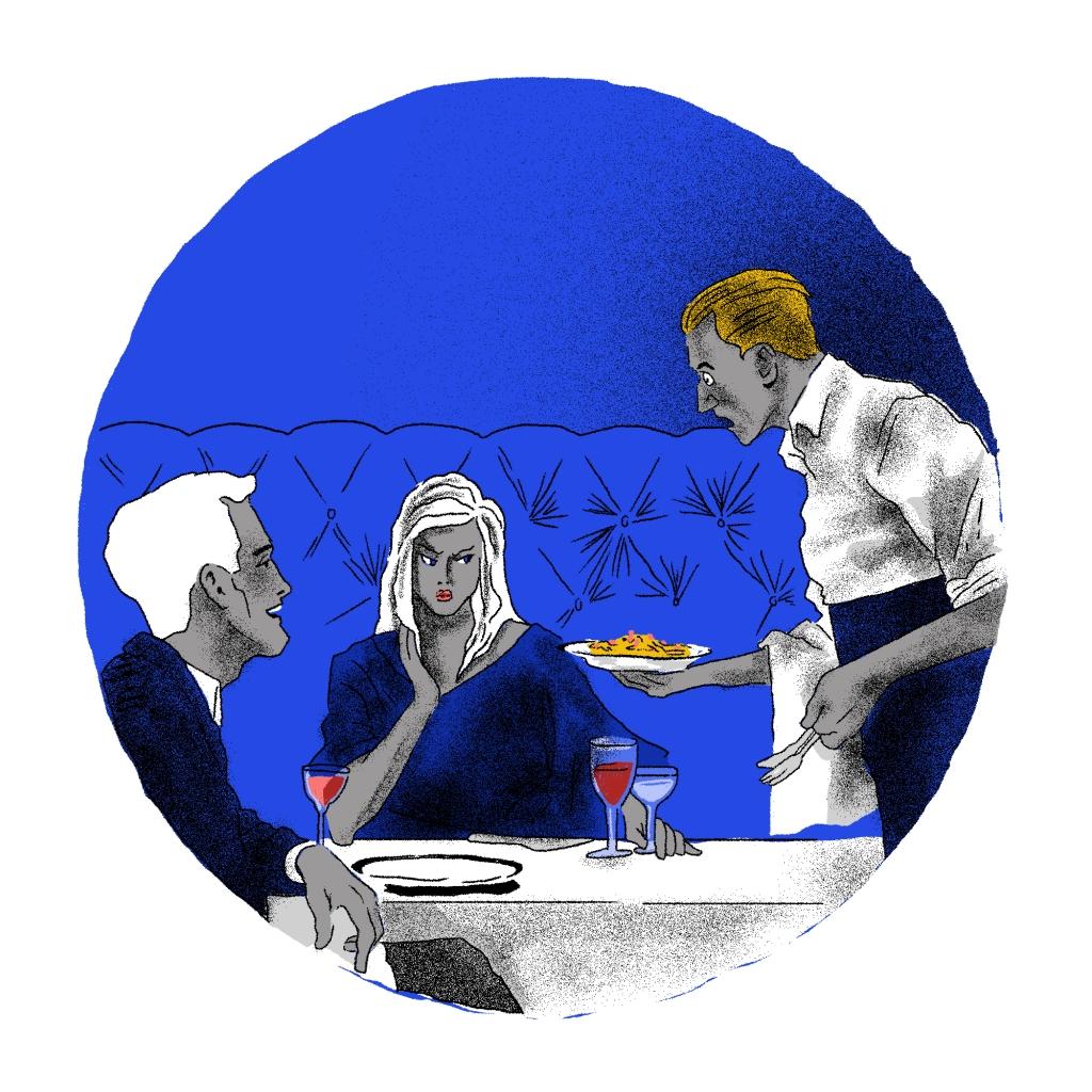 Ilustração de Julio Lapagesse para o conto Inácio de Luiz Vieira.